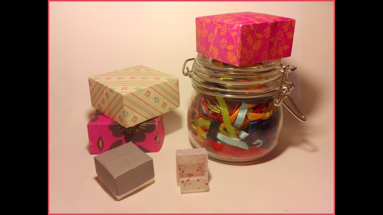tuto faire une bo te en papier origami tutorial youtube. Black Bedroom Furniture Sets. Home Design Ideas