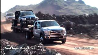 Ford Super Duty Truck Off Road In Rock Quarry Video