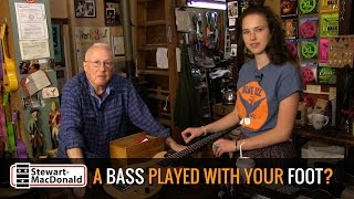 Watch the Trade Secrets Video, A bass you play with your foot?