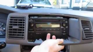 2003-2008 Toyota Corolla Car Stereo Upgrade [Part 1 Of 3
