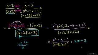 Seštevanje in odštevanje racionalnih izrazov 3