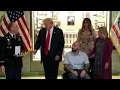 President Trump presents Purple Heart to US service member