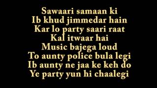 PARTY ALL NIGHT LYRICS Boss Song By HONEY SINGH