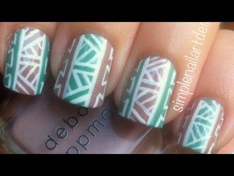 Ombre Dip Dye Nail Art Without A Sponge Nails Video