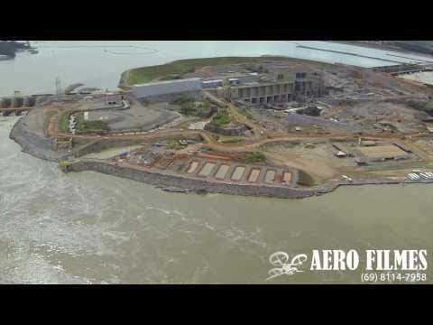 Usina Santo Antônio / Rio Madeira vistos do alto! A imagens foram feita na tarde de quarta-feira (12) e o fotógrafo utilizou um drone Hexacóptero  e chegou a uma altura de 1.300 metros até o ponto de retorno.