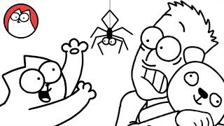 Spider Cat - Simon's Cat (Halloween Special) | BLACK & WHITE