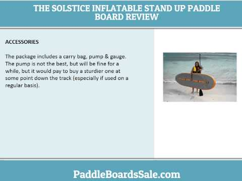 The Solstice Inflatable Stand Up Paddle Board – video review
