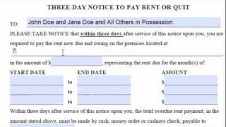 San Diego 3 Day Notice To Pay Rent Or Quit How To Fill