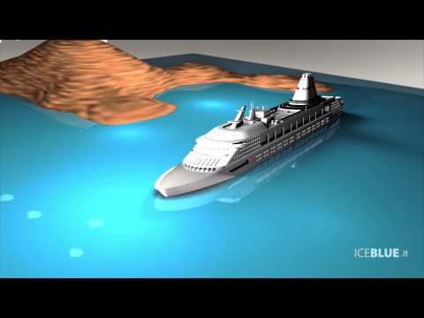 (HD) Ricostruzione 3D incidente Costa Concordia - 3D Animation of Costa Concordia accident