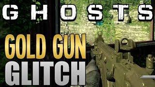 CALL OF DUTY GHOSTS: GOLD GUN CAMO GLITCH TUTORIAL