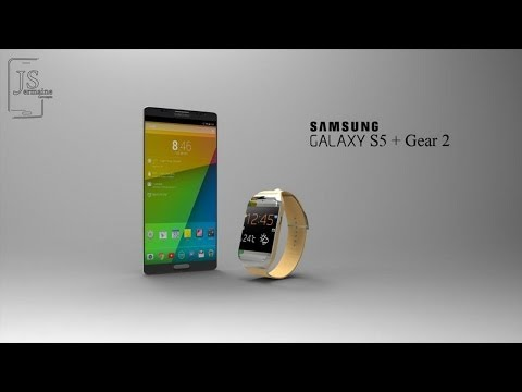 NEW Samsung Galaxy S5 + Galaxy Gear 2 AWESOME Concept 2014