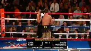Amir Khan Vs Paulie Malignaggi Final Round TKO