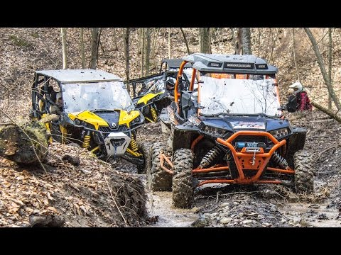 Spring SXS + ATV Beat Down - UTV + ATV Trail Riding Comparison -  Polaris vs Can-Am