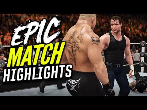 WWE 2K16 Fast Lane 2016 Reigns vs. Ambrose vs. Lesnar | Epic Match Highlights!