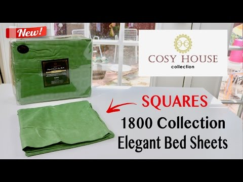 😍 COSY HOUSE  Elegant Designer 1800 Collection Bed Sheets (Squares) - unboxing ✅