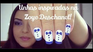 Unhas Inspiradas Na Zooey Deschanel!! Tutorial Por