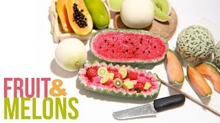 How To Make Miniature Melons Polymer Clay Cantaloupe