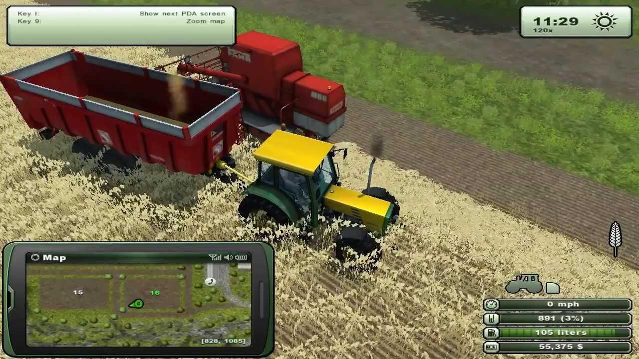 Farming simulator episodul 1 grau combine si tractoare youtube