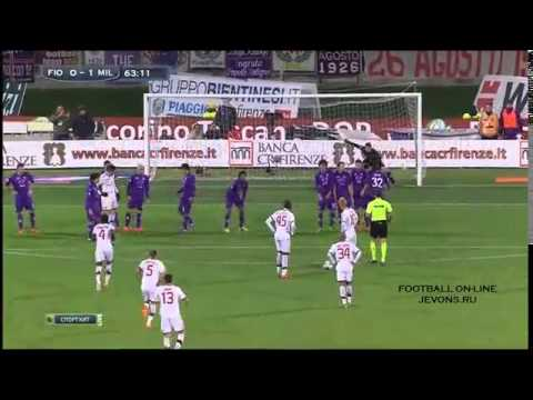 Fiorentina 0-2 AC Milan Highlight 27/03/2014