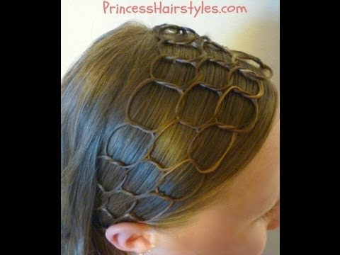 Honeycomb Headband Hairstyle Tutorial - YouTube