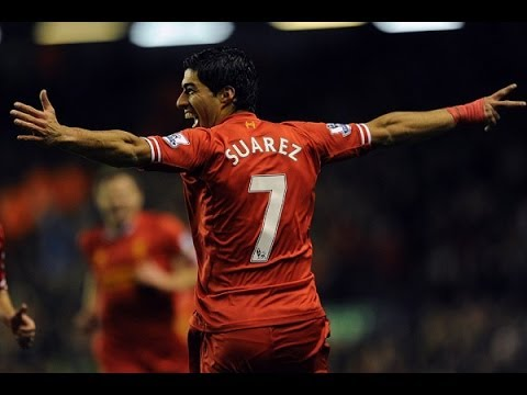 Luis Suarez vs Norwich (5-1 at Anfield)