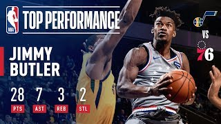 Jimmy Butler SHOWS OUT In 76ers Home Debut   November 16, 2018