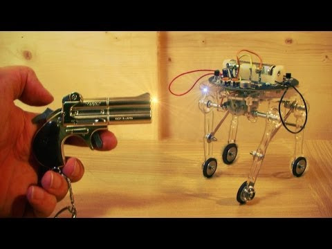 A Cute Shotgun Activated Robot Toy !