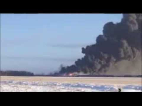 Train fire in Casselton, North Dakota