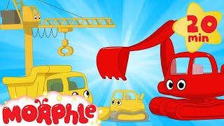 My Magic Living Construction Vehicles!  Morphle Excavator, Bulldozer, Dump Truck and Crane videos