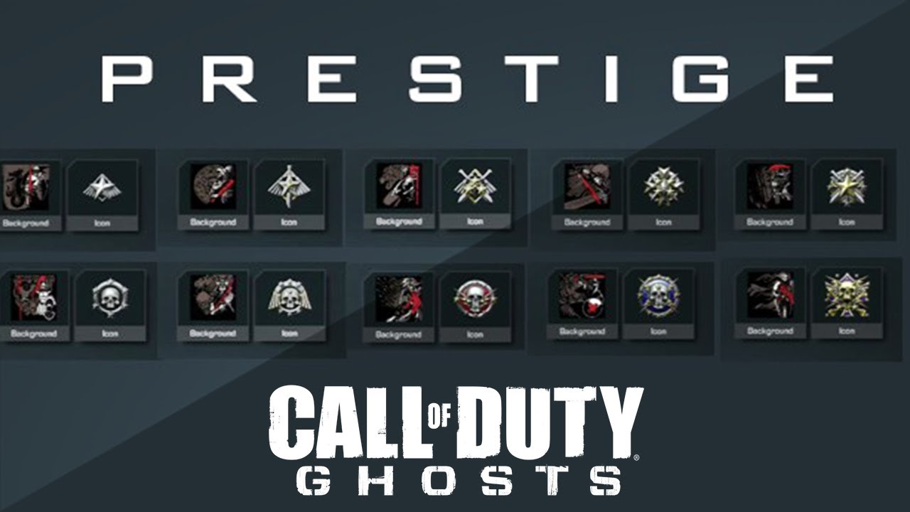 call of duty ghosts tout les prestiges youtube