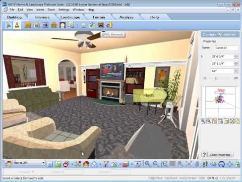hgtv home design software inserting interior objects youtube. Black Bedroom Furniture Sets. Home Design Ideas