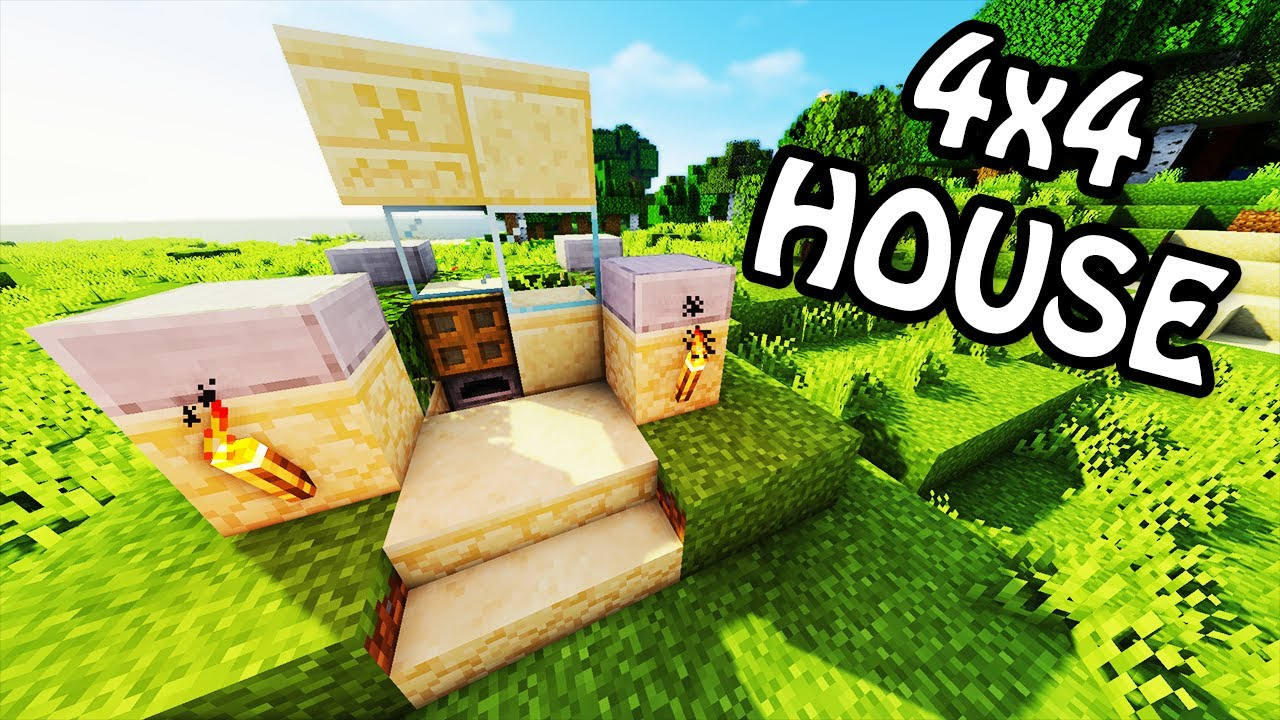 how to build the smallest house in minecraft pe
