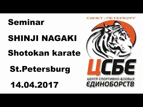 Demonstration 27: Seminar SHINJI NAGAKI Shotokan karate St Petersburg 14 04 2017