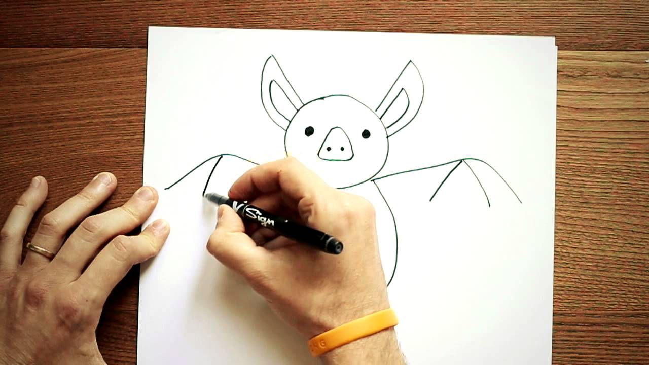 Come disegnare un pipistrello youtube for Immagini di cavalli da disegnare