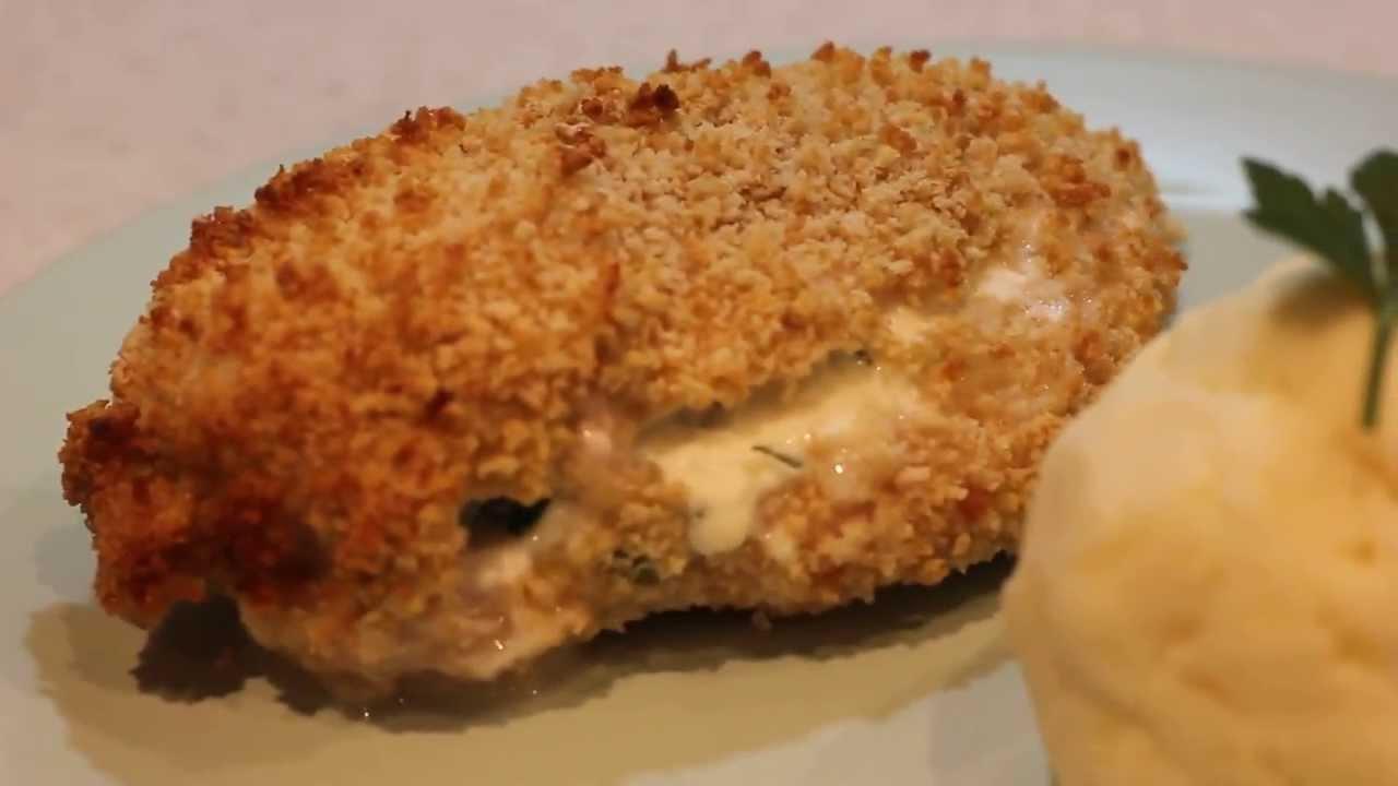 Crispy Cheese & Garlic Baked Stuffed Chicken Breasts - YouTube