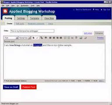 Blogger Tutorial - How to Start Blogging with Blogger
