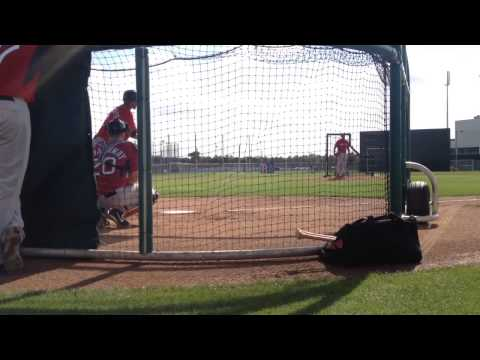 Felix Doubront fires BP to Xander Bogaerts and Grady Sizemore