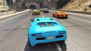 GTA 5 Online Online Race With The Bugatti Veyron [1st