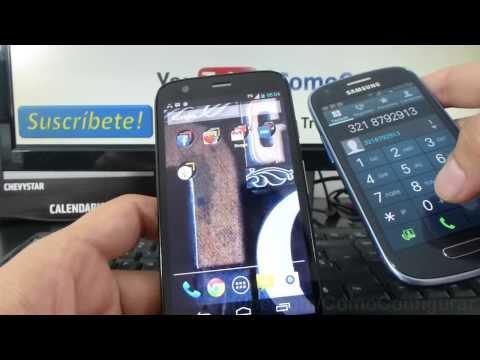 Como personalizar los tonos ringtones Motorola Moto G X T1032 En Español Full HD