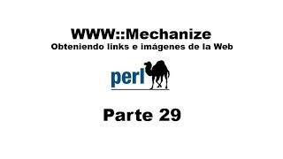 Perl tutorial. Parte 29