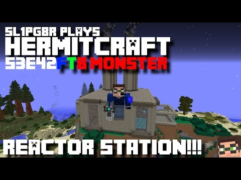 Minecraft FTB Monster - Power Station!!! ( Modded Minecraft Hermitcraft S3E42 )