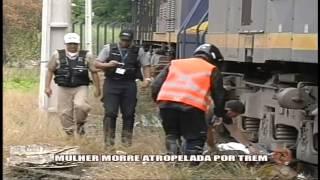 Mulher morre atropelada por trem Alterosa em Alerta