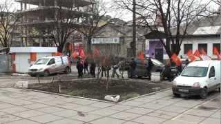 Moldoveniștii mărșăluiau pe strada București