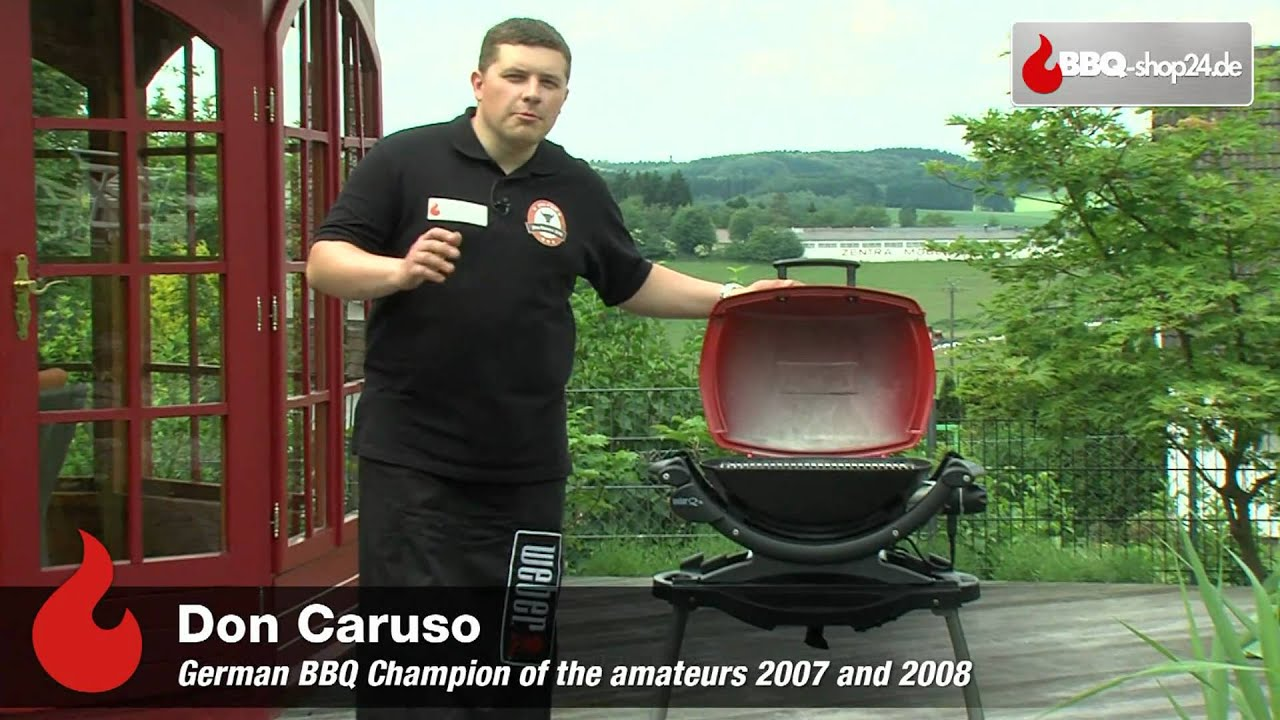 weber grill q 140 elektrogrill youtube. Black Bedroom Furniture Sets. Home Design Ideas