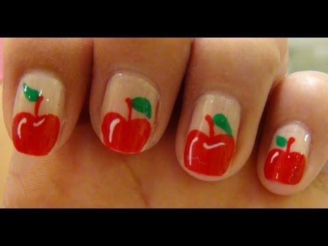 Simple Apple Nail Art Nail Designs Video