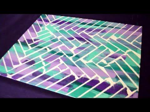 Diy Painter S Tape Canvas Art Youtube