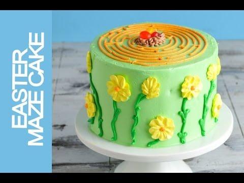 EASTER MAZE CAKE TUTORAIL