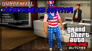 """GTA 5 Online: NEW """"Unlock ALL Independence Day Outfits 1"""