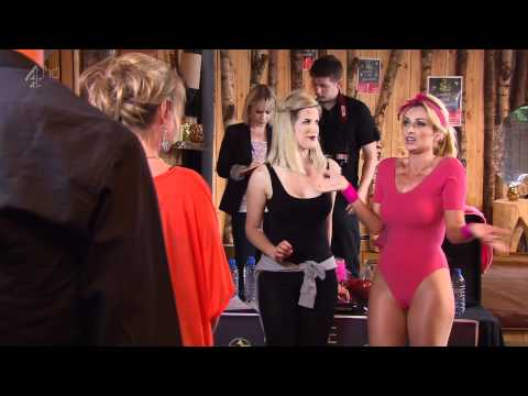 Gemma Merna Pink Leotard And Shiny Tights