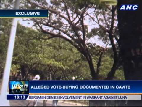 Alleged vote-buying documented in Cavite